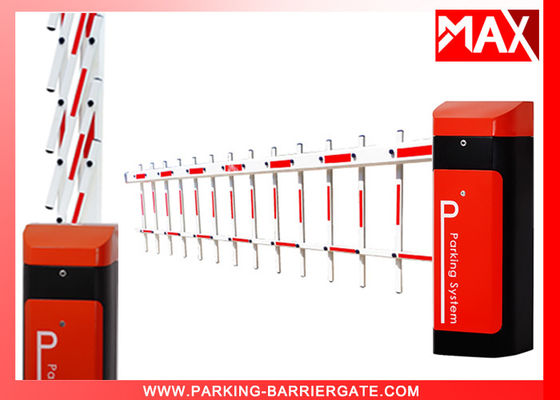 Electronic Automatic Parking Barrier , Road Barrier Gate Straight / Folding / Fence Arm