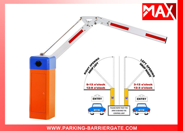 Automatic Electric Boom Barrier Gate Car Parking Barrier 2 Remote Control With 3s Opening Time 4.5m Telescopic Arm Smart Card System Car Parking Equipment